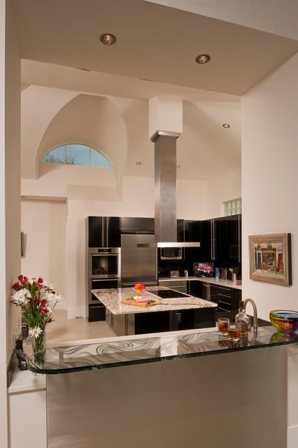 Elegant Black Kitchen - New Orleans, LA contemporary-kitchen