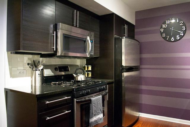 Elegant Chic Suburban Getaway contemporary-kitchen