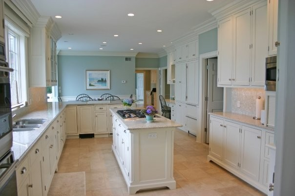Elegant Coastal Kitchen Beach Style Kitchen Boston