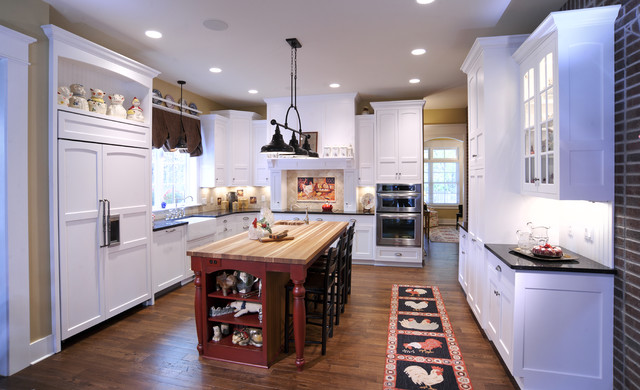 Elegant Country Charm traditional-kitchen