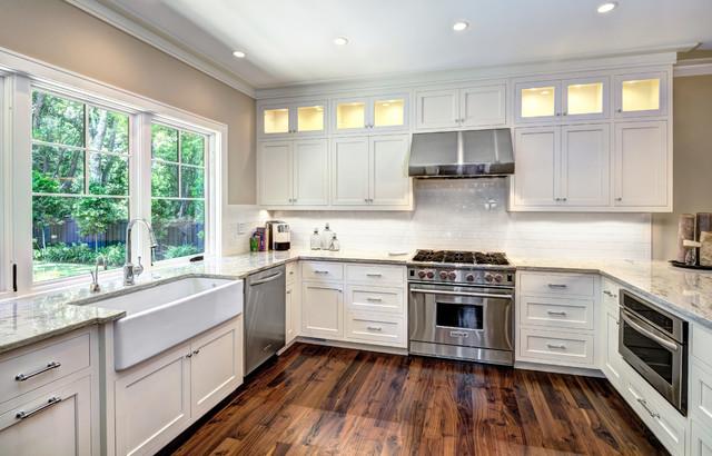 Elegant Inset Shaker Transitional Kitchen Charleston