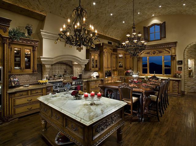 Elegant Kitchen - Mediterranean - Kitchen - Other - by Fratantoni Luxury Estates