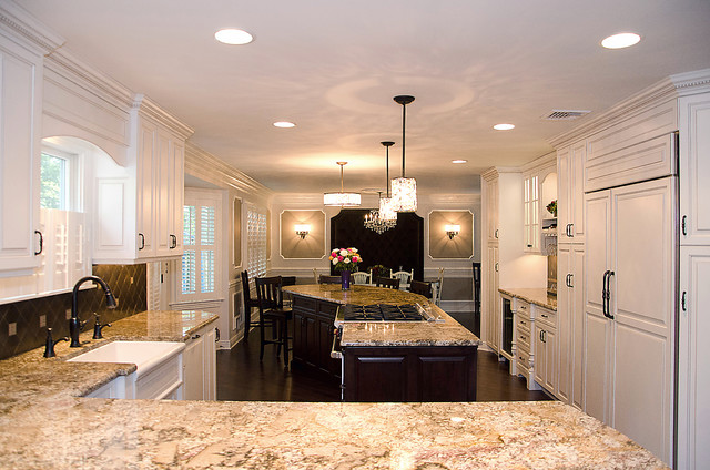 Elegant Kitchen with Large Island - Traditional - Kitchen - Other - by ...