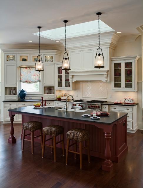 Elegant Lakeside Kitchen Traditional Kitchen Chicago