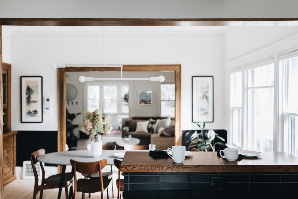 Elegant Matte Black Kitchen Backsplash Contemporary