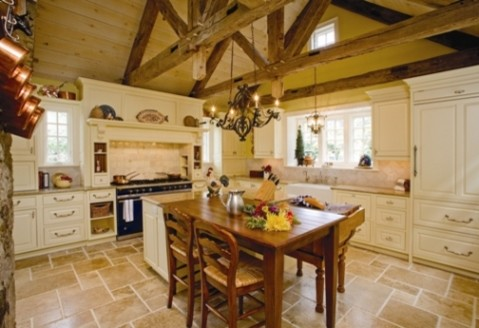 Elegant Old Manor Kitchen traditional kitchen