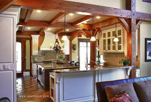 Elegant Timberframe traditional-kitchen