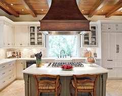 Elegant Traditional Kitchen Beaded Inset traditional-kitchen