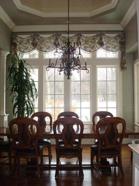 Elegant Valance For Transom Window With Wood Beaded Trim