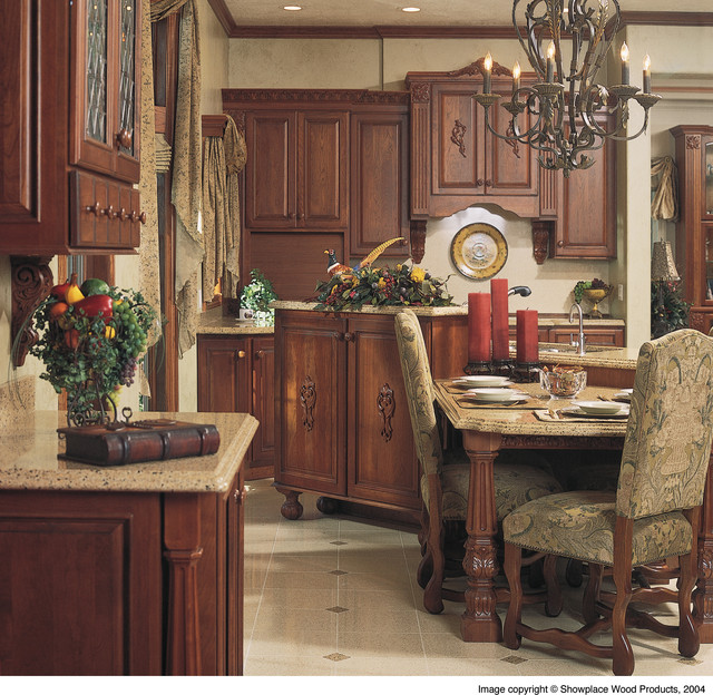 Elegant warmth traditional kitchen other metro by for Elegant traditional kitchens