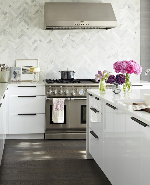 Ikea Kitchen White elegant white ikea kitchen - modern - kitchen - toronto -croma