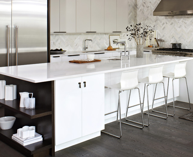 Elegant White IKEA Kitchen - Modern - Kitchen - toronto - by Croma Express Kitchens