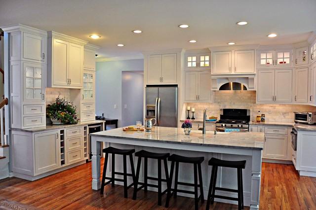 Elegant White Kitchen Transitional Kitchen New York By
