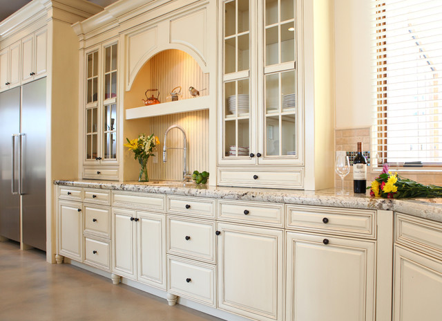 Elegant White Kitchen Mdf Traditional Kitchen