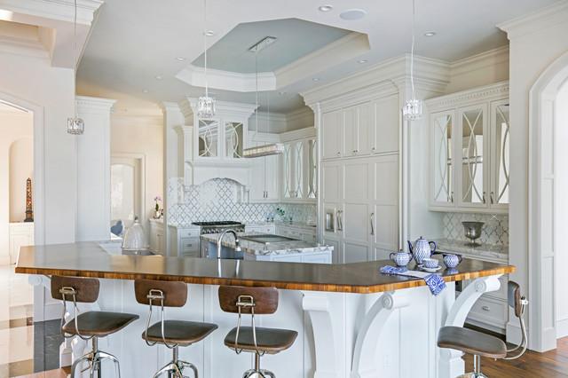 Elegant White Kitchen Traditional