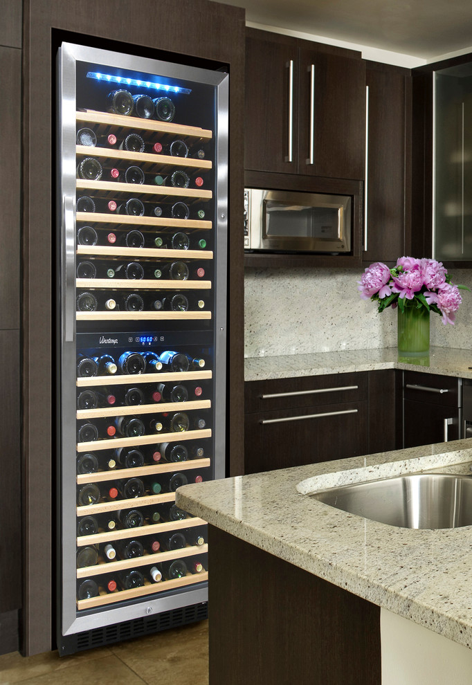 Element By Vinotemp Kitchen With 155 Bottle Dual Zone Wine Cooler Contemporary Kitchen Los Angeles By Vinotemp Houzz