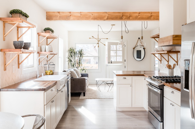 Elmhurst Flip Farmhouse Kitchen Sacramento By