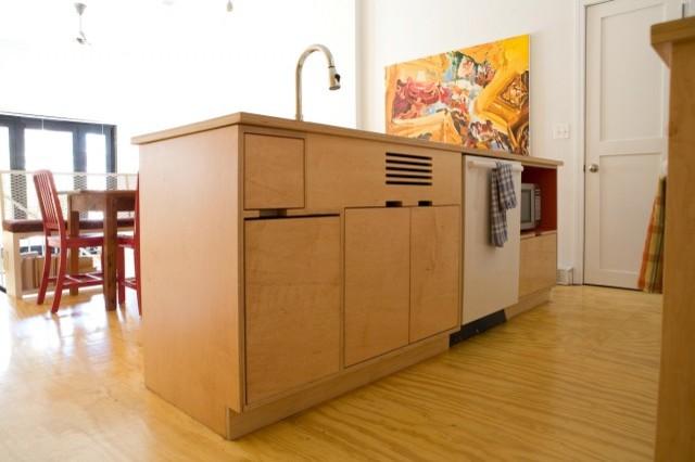 Kagan kitchen modern kitchen seattle by kerf design for Modern kitchen cabinets seattle