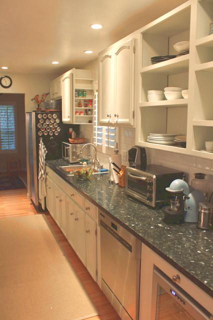 Emerald Pearl Honed Granite Kitchen Contemporary Kitchen