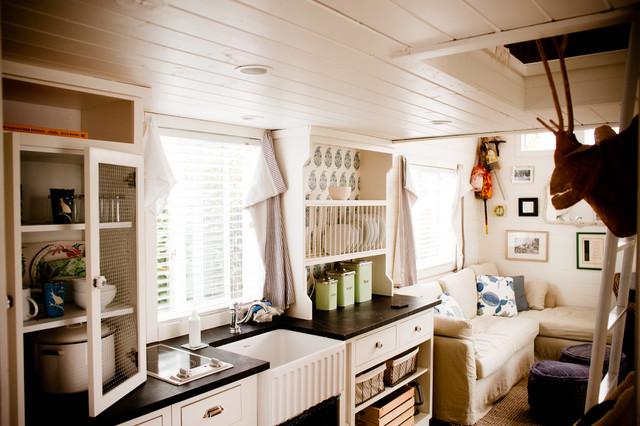 Encinitas Cottage Mobile Home Beach Style Kitchen