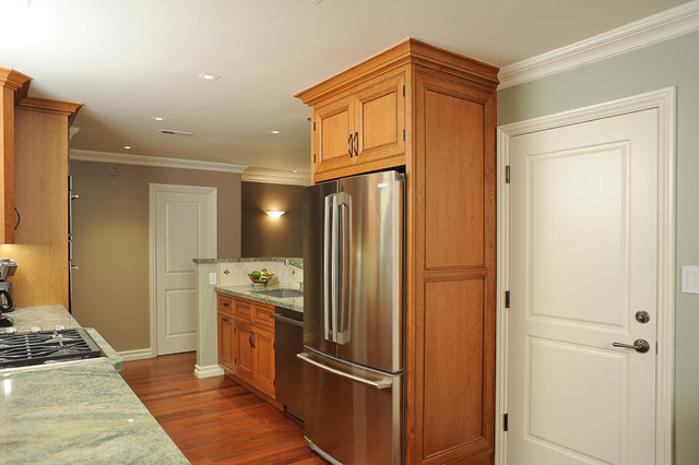 Enclosed Refrigerator With Door Style Panelstraditional Kitchen San Francisco