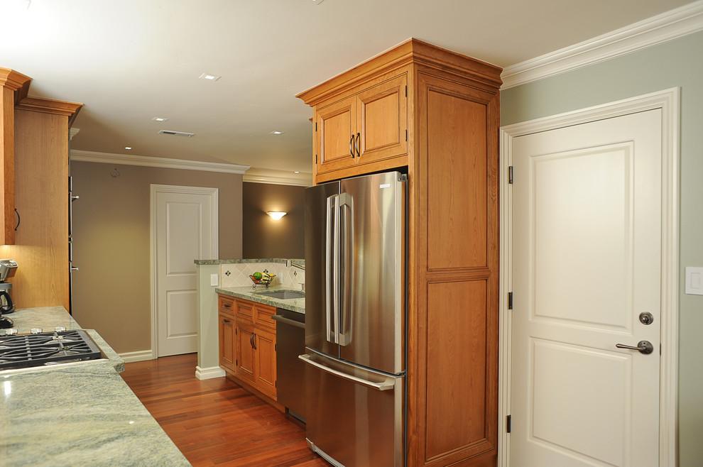 Enclosed refrigerator with door-style panels - Unique ...