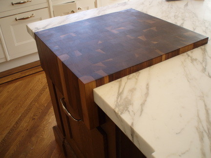 End Grain Butcher Block Worktops Traditional Kitchen