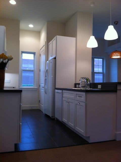 Energy efficient affordable house on urban lot Energy efficient kitchen design