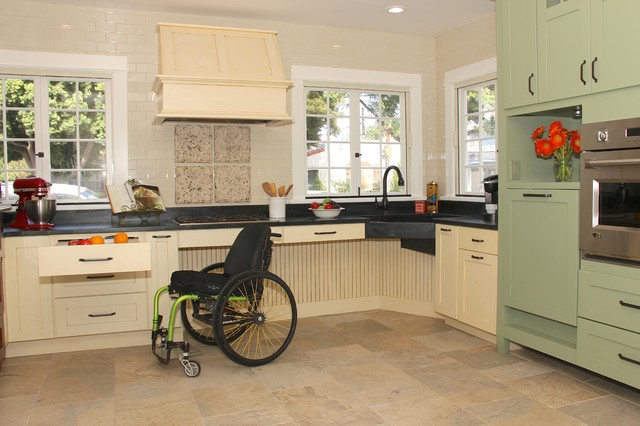 English Country Accessible Kitchen - Modern - Kitchen