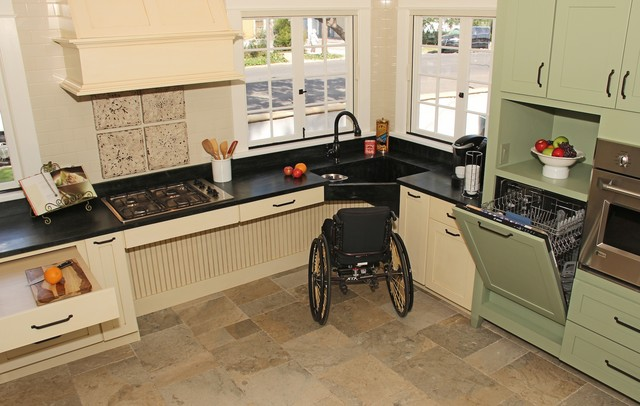 English Country Accessible Kitchen Traditional Kitchen San Cool Accessible Kitchen Design