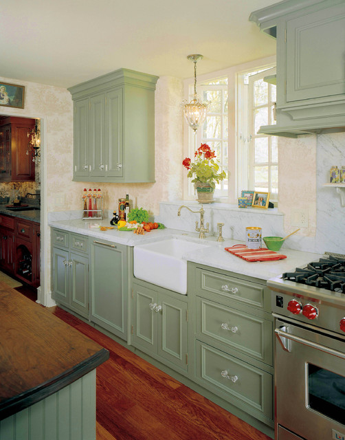 English Country Kitchen Redeisign - Traditional - Kitchen - philadelphia - by HomeTech ...