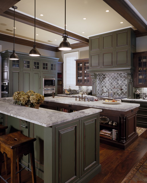 English Country Waterfront traditional-kitchen