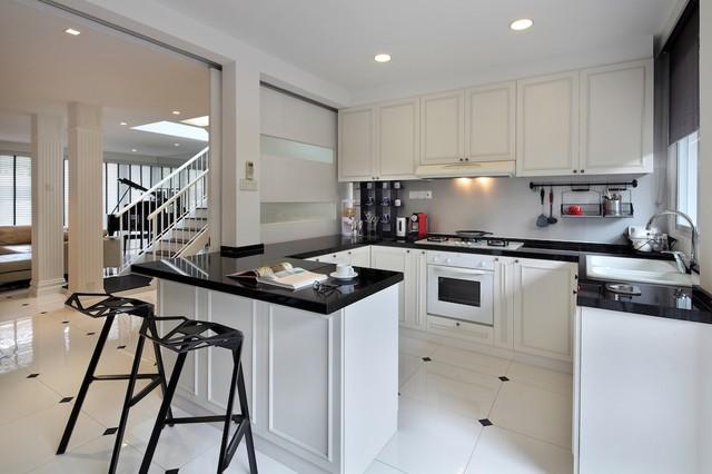 English Loft Kitchen Area Modern Kitchen Other Metro By Black N White House