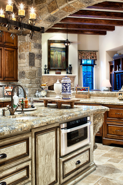 English manor traditional kitchen houston by for Traditional english kitchen
