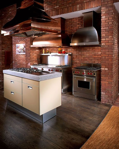 English Pub Thin Brick Modern Kitchen