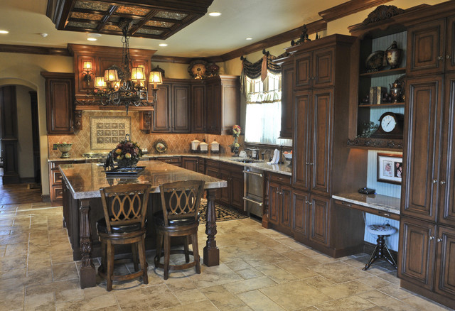 English tudor traditional kitchen oklahoma city by for Tudor kitchen design