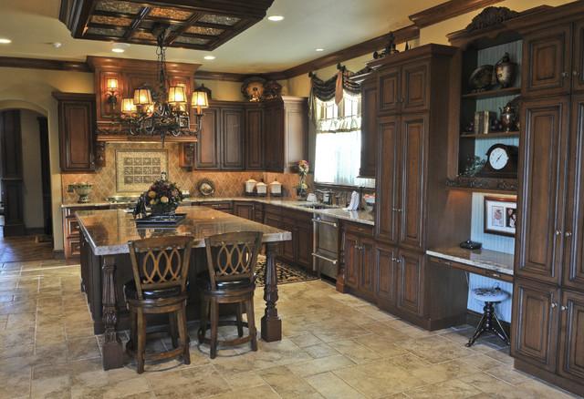 English Tudor - British Colonial - Kitchen - Oklahoma City - by ...