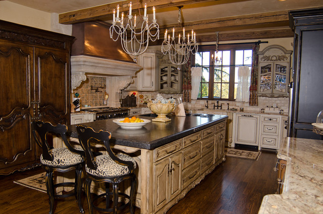 English tudor estate traditional kitchen oklahoma for Tudor kitchen design