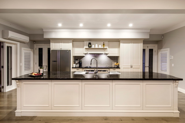 Enigma interiors hamptons style contemporary kitchen for Kitchen cabinets brisbane