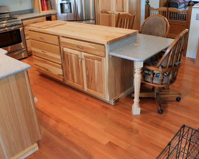 Erie pa hickory traditional kitchen rustic kitchen for Kitchen cabinets erie pa