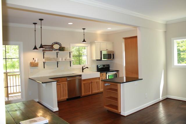 Escape Living And Kitchen Granite Hickory Cabinets Farm