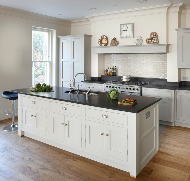 esher grey shaker kitchen transitional kitchen