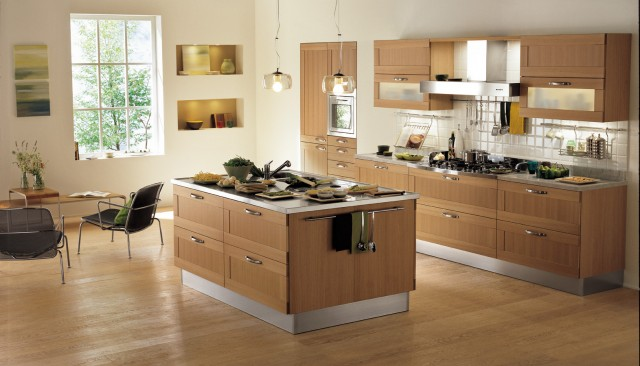 ESMERALDO by Snaidero design  Light oak contemporary kitchen