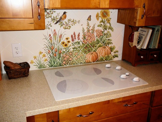 espinosa 39 s flower garden diagonal kitchen backsplash