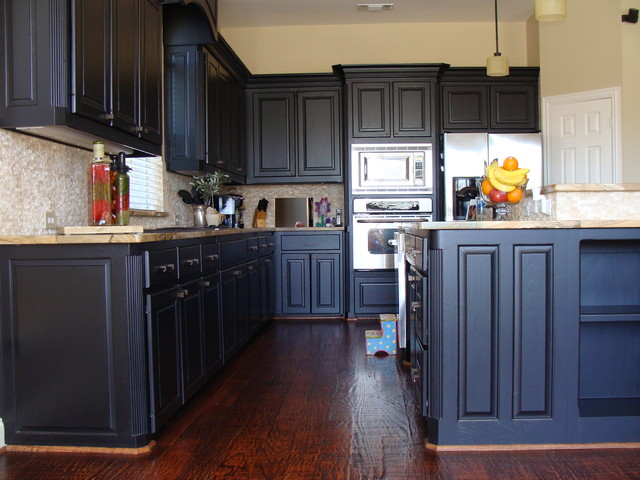 Espresso Cabinets Traditional Kitchen Other Metro