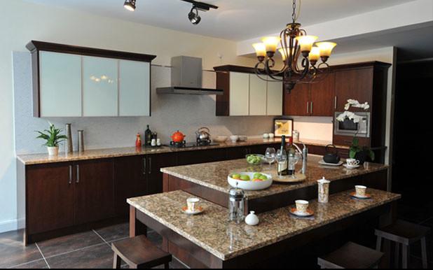 Espresso Flat Contemporary Kitchen Edmonton By Edmonton Kitchen Bath Cabinet Inc