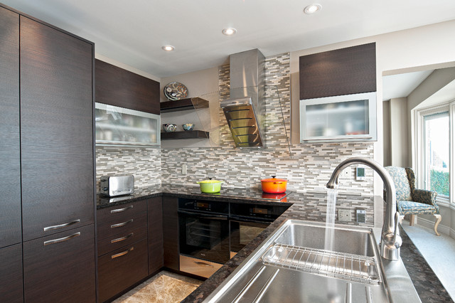 Espresso Kitchen Contemporary Kitchen Toronto By Binns Kitchen Bath Design