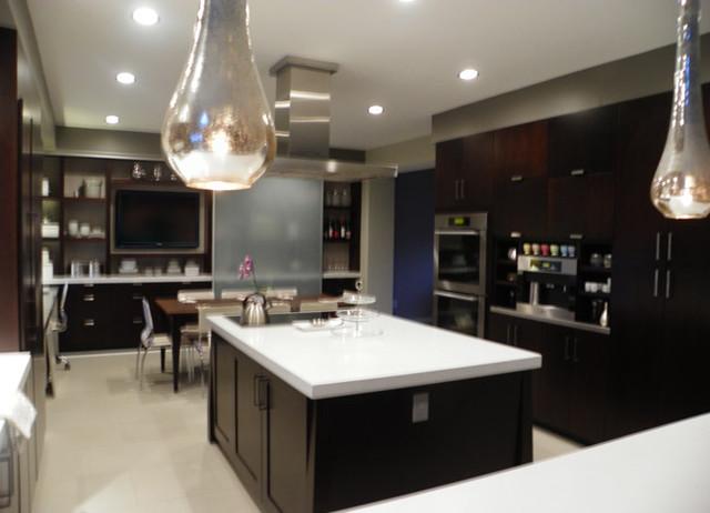 Superb Espresso Kitchen Modern Kitchen