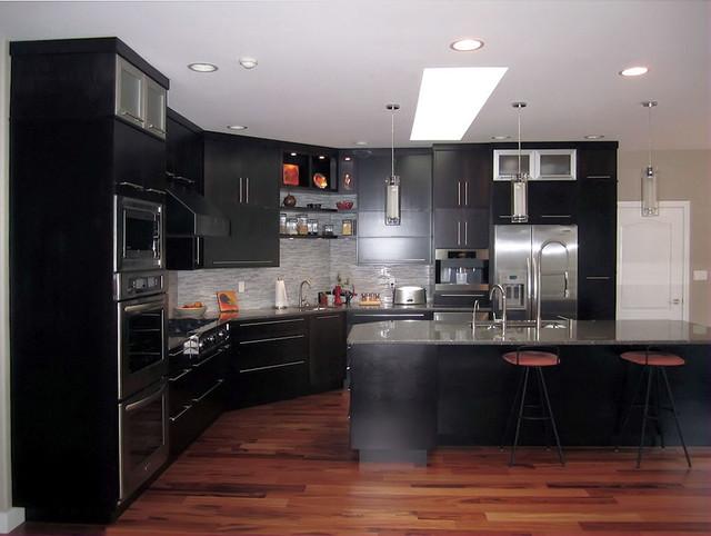 espresso kitchen with large island modern kitchen