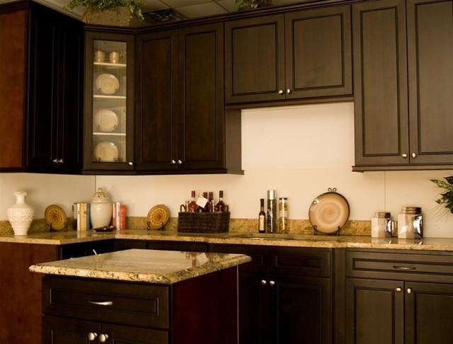 Espresso Maple Kitchen Display - Contemporary - Kitchen - other metro ...